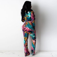 Sexy Bandage Womens Jumpsuits Summer O- Neck Long Sleeve Skin...