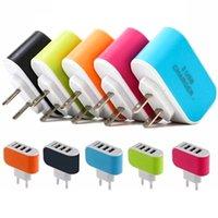 US-EU-Stecker 3 USB-Ports-Ladegerät 5V 3.1A LED-Adapter-Spielraum Convenient Power Adapter mit Dreifach-USB-Anschlüsse für iphone 5 6 7 für Samsung