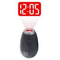سلسلة الإسقاط الرقمية على مدار الساعة المحمولة الصمام الإسقاط ساعات البسيطة على مدار الساعة مع الوقت الرقمية ووتش ليلة الخفيفة ماجيك العارض ساعة مفتاح