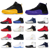 University Gold 12 Jumpman 12s Men Basketball Shoes Dark Grey Concord Game Royal HOT PUNCH TAXI Womens Mens Trainers Sports Sneakers