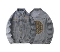 Mens Denim Jacket Cotton Blue Black Cowboy Loose Korean Fash...