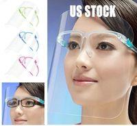 ações dos EUA 10 Pcs protetor facial DIY transparente Máscara Limpar 5 cores Anti Poeira Nevoeiro Spatter Névoa Cozinha Oil-respingo de protecção APET Rosto
