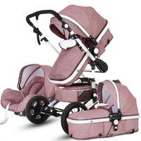 높은 풍경 아기 유모차 1에서 1 엄마 럭셔리 여행 유모차 마차 바구니 자동차 좌석 및 Carrito