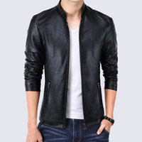 iSurvivor 2020 New Men's Slim Leather Jacket Spring And Autumn Casual Outdoor Leather Quality PU Jacket
