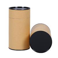 Биоразлагаемые переработанные на заказ черная круглой бумаги трубки коробки крафта для косметических контейнеров