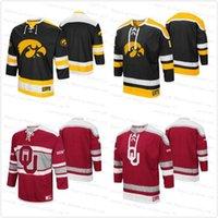 Iowa Hawkeyes Athletic machine Hockey Jersey Sweater Oklahoma Sooners NCAA Colleage Hockey Maillots