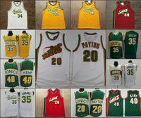 Seattle retro.Supersônica.Homens Ray Allen Kevin Durant Mesh 1995-96 Mitchell NessNBA Hardwoods.Jerseys de basquete clássicos.