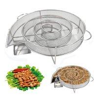 A freddo fumo Generator per barbecue grill o con il fumo polvere di legno caldo e freddo fumatori salmone Carne Brucia di cottura in acciaio attrezzi del BBQ