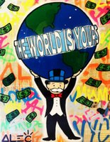 Alec Monopoly Graffiti art The World is Yours Home Decor Han...