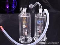 Bang di vetro LED Bongs mini bicchiere di vetro Bong Bong di vetro spesso Bruciatore di olio Bangs Bongs 10mm Strutture per olio congiunto con tubo di bruciatore di olio da 10 mm