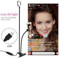 Selfie Light Ring con il telefono delle cellule supporto del basamento per diretta / trucco, acc017 UBeesize Camera di illuminazione a LED