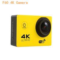 "4K 액션 카메라 F60 Allwinner 4K / 30fps 1080P 스포츠 와이파이 2.0 ""170D 헬멧 캠 수중 이동 방수"