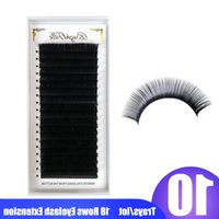 10 Boxes Eyelash Extensions Matte Black Individual Lash Extensions Lashes Extension for Professionals 18Rows Faux Mink Eyelash