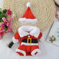 Christmas Pet Dress 5 Tamanho Elk Santa Puppy Terno Clássico Euramerican Pet Dog Christmas Roupas de Natal Pets Vestuário Atacado Por Atacado DH0309
