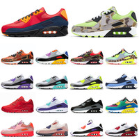 nike air max 90 airmax 90s Laufschuhe 90s Camo Grape Mixtape Triple Black Volt Camowabb Be True UNC Trainer Männer Outdoor-Sport-Turnschuhe der Frauen 36-45