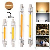 R7S Dim LED Ampul COB Cam Tüp 78mm 6W 118MM 10W Halojen Lamba 100W Soğuk Beyaz COB Mısır Spot Işık AC110V 220V Isınma değiştirin