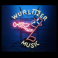 Wurlttzer Music Custom Neon Sign Handmade Real Glass Tube Be...