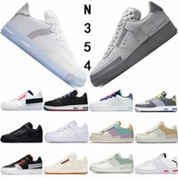 Air Force Dunk 1 20SS N354 Tipi Sneakers Zirve Beyaz Işık Kemik Gri Sis Zinnia Gölge Üçlü Siyah N.354 Doğa Sporları Ayakkabı Moda Eğitmenler