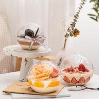 Очистить форму шара торта коробка пластикового торт коробки и упаковки для свадьбы дня рождения партии печенье декора Формы для Mousse Bakery