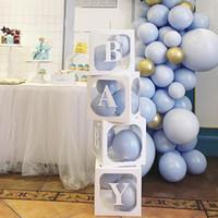 BEBEK Şeffaf Kutu Depolama Balonlar Doğdun Partisi Baby Shower Malzemeleri Kağıt Karton Kutu Hediye Paketleme Yana