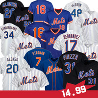 Stroman 20 Pete Alonso 48 Jacob Denom PIAZZA 17 Keith Hernandez 18 Darryl Strawberry 52 Yoenis Cespedes Maglie da baseball