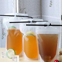 250ml 500ml Plastic Bag bevanda Latte contenitore caffè Bere frutta borsa succo di alimentari sacchetti di plastica T2I5966-1