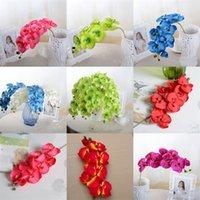 8 teste di simulazione unico ramo di fiori artificiali di plastica Fiore secco decorazioni di nozze decorazione della parete di Arti e Mestieri 2 5MC E2