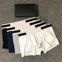 3pcs 2020 Mens Designer Boxers Brands Cuecas Sexy Mens clássico Boxer Shorts Casual roupa interior respirável Algodão Underwear Com Box