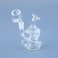 """4 """"Стекло бонг маленький бонг стеклянный водой трубы мини-бонг маленький рециркулятор DAB буровой барабанги изогнутые стакан бонги стеклянные трубы с 10 мм женского сустава"""