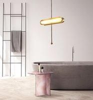 Oro LED Luz pendiente moderna magia girada Suspensión Salón Comedor Sala de la lámpara de techo colgante del accesorio de iluminación PA0133