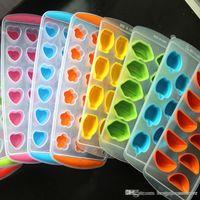 Großhandel Eisspeicher-Box-Form für Küchenparty Werkzeuge Gummi Eiswürfel Kreative Obst-Maschine Freeze-Form-Eis-Würfel-Behälter BH0632 BC