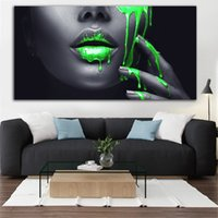 Black Africa Wall Art Canvas Portrait Poster Print Decorativ...