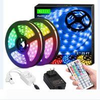 Flexible RGB Light LED Strip Lights RGB 16.4Ft 5M SMD 5050 DC12V Flexible les strips lights 50LED meter 16Different Static Colors