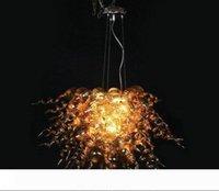 Contemporay oro lampadario di cristallo di 100% a mano in vetro soffiato Lampadario LED CE UL Soggiorno soffiato Lampadario in vetro Illuminazione
