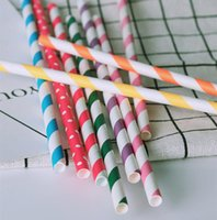 Multi Color Paper Drinking Straws Disposable Straw Eco- Frien...