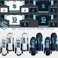 2021 Season Seattle Kraken Jersey 32. Yeni Takım 32 Kraken Özel Mens Womens Gençlik Herhangi bir sayı Hokey Formaları