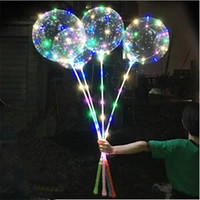 Trasparente Balloons luci stringa 3M LED luminoso LED Bobo Balloon Lampeggiante con la presa della mano Christmas Party Wedding le decorazioni 05
