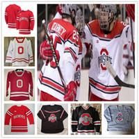 Пользовательского штат Огайо Buckeyes Hockey сшитого Джерси Big Ten мужской женщин молодежь Любого Номер Название 7 WYATT EGE Шон Romeo Сэм McCormick дети