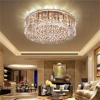 Nouveau mode LED salon plafond de cristal lumières lustre créatif chambre lampe de plafond lampe en cristal de nid d'oiseau Pendentif Lampes