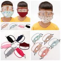 2 en 1 máscara de cara de la válvula niños Con visible transparente Escudo de ojos a prueba de polvo lavable de la cara llena de protección careta de protección Máscaras de diseño RRA3363