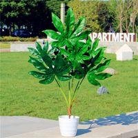 80 centímetros 7fork Grande Artificial Árvore tropical Falso Plástico Planta Poder Big Green Palmeira Monstera folha por Autumn Home Decor