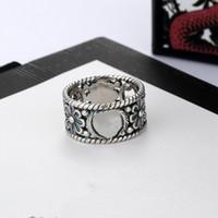 Unisexe Bague alliage de haute qualité simple anneau rétro style complet Petite fleur Sculpture Bague bijoux à la mode d'alimentation
