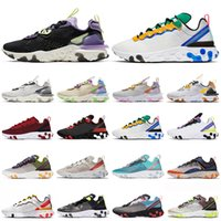 react vision element 87 55 running shoes Bred Camo Honeycomb Desert Oasis womens mens trainers outdoor sports sneakers New Arrival