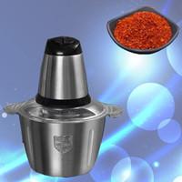Neue Küche kommerzielle 220V 300W Edelstahl 3L Kapazität elektrischen Zerhacker Fleischwolf Chopper Küchenmaschine Slicer