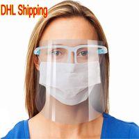 DHL Versand Sicherheit Gesicht Schild Gläser Wiederverwendbare Faceshield Visor Transparente Anti-Nebelschicht schützen Augen aus dem Spritzen