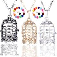 Disffuser collana gabbia cono perla accessori medaglione olio essenziale diffusore Collane scavi fuori la collana del pendente della gabbia Locket ps1167