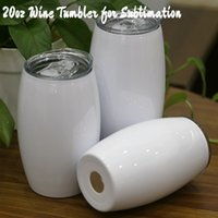 Cheapest!!! 20oz White Wine Tumbler for Sublimation Stainles...
