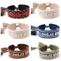 2020 heiße Verkaufs-Frauen Armband-handgemachte Brief Stickerei Cotton D Armbänder Fabrics Quaste justierbares Armband Großhandel