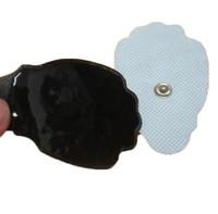 نسيج اليد الشكل النخيل استبدال العلاج بالتدليك وسادات القطب الكهربائي الكهربائية الوسادة لعشرات الكهربائي E-STIM TENS وحدات أحادي القطبية