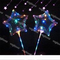 Светодиодные строки мигающий шар формы звезды с Стик Wave мячем 3M свет шнура на Рождество Хэллоуин Свадьба День рождения украшения DHL